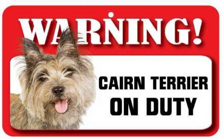 Cairn Terrier Pet Sign